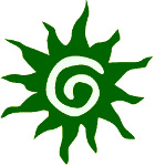 Dark green sun