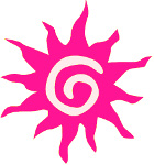 Deep pink sun